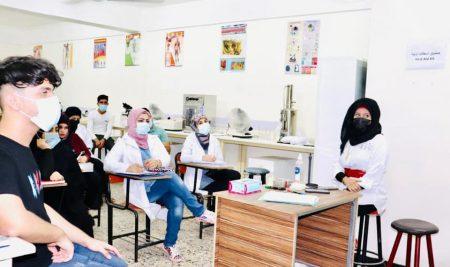 انطلاق المحاضرات العملية في كلية النخبة الجامعة