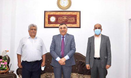 عميد كلية النخبة يستقبل رئيس الجمعية العراقية لنظم ادارة الجودة